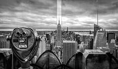 ah..that old chestnut :) (Gordon McCallum) Tags: nyc newyork newyorkskyline theempirestatebuilding topoftherock blackandwhite sony sonya6000 sigmaartlens