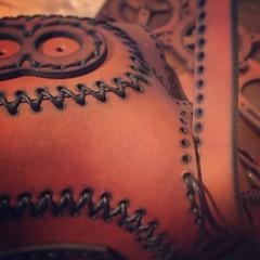 23 Leather parts. One mask. #Cyberpunk #CyberGoth #postapocalyptic #postapocalypse #steampunk #steampunkmask #leathermask #handmade #LARP #dieselpunk #leather #Darkart #costume #burningman (tovlade) Tags: black girl face make up leather punk hand mask goth goggles made doctor cyber cybergoth cyberpunk plague larp steampunk postapocalyptic postapocalypse dieselpunk