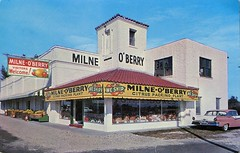 Milne-O 'Berry Inc., St. Petersburg, Florida (SwellMap) Tags: architecture vintage advertising design pc 60s fifties postcard suburbia style kitsch retro nostalgia chrome americana 50s roadside googie populuxe sixties babyboomer consumer coldwar midcentury spaceage atomicage
