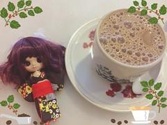 My morning fix  #petiteblythe #blythedoll #ooak #customblythe #doll (dancingdoll2772) Tags: doll ooak blythedoll petiteblythe customblythe