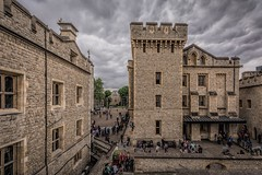 The Tower (James Waghorn) Tags: sigma1020f456 castle summer urban london topazclarity city toweroflondon d7100 clouds medieval historic england nikon heritage tourist monkey