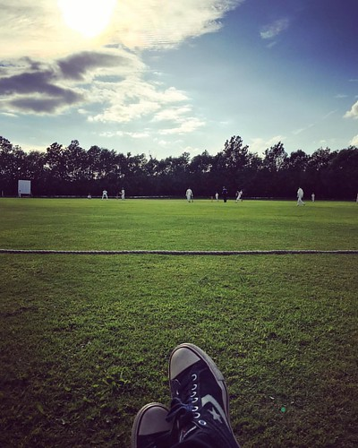 Finally, one in the sunshine.  #CupMatch #denbycricketclub #u15s