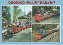 Diamond Valley Railway (Liz Pidgeon) Tags: eltham postcard diamondvalleyminiaturerailway