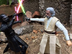 Kylo: Your foolish and weak old man. Just like Han Solo was.                            Luke: No Ben it is you who are foolish and weak. It will be your undoing (chevy2who) Tags: toy star inch ben action luke solo figure rey ren wars custom six hasbro skywalker kylo customstarwars customblackseries