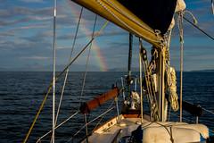 Towards the pot of gold..... (Dafydd Penguin) Tags: rainbow sea water sailboat sailing cruising coastal coast hebridean scotland uk west britain canna rum nikon d600 nikkor 20mm af f28d 50mm f14d