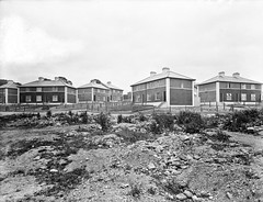 Ticky tacky houses on a 'green field' site? (National Library of Ireland on The Commons) Tags: ahpoole arthurhenripoole poolecollection glassnegative nationallibraryofireland houses semidetached semid greenfieldsite newross countywexford littleboxes suburban development terracedhousing britishportlandcementassociation townwall ardnagrine windmilllane jklplace johnkildareoloughlinplace explore