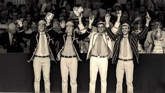 Leander club winning at henley royal regatta.  #leander #club #rowing #blackandwhite #suitandtie #celebrations #gold #medal #trophy #olympics #splittone #nikonphotography #d5100 (edfisher1994) Tags: blackandwhite club gold medal celebrations rowing trophy olympics leander splittone suitandtie nikonphotography d5100