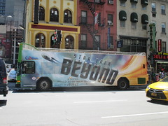 Star Trek Beyond - The Bus 2161 (Brechtbug) Tags: show street new york city nyc fiction bus film television trek computer movie poster star tv jj theater mr theatre manhattan district space rip ad broadway science double billboard midtown sidewalk ave captain spock scifi series beyond anton 1960s avenue abrams 8th futuristic kirk generated 45th decker the 2016 standee standees yelchin 07042016