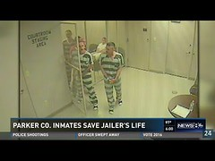 Parker County inmates save jailer's life (Download Youtube Videos Online) Tags: life county save parker inmates jailers