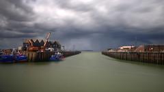 whitstable harbour (mariusz kluzniak) Tags: uk england motion blur rain clouds dark europe long exposure industrial harbour britain great whitstable mariusz kluzniak
