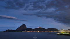 See you soon... blue hour @Downtown, #RiodeJaneiro, #Brazil (rafa bahiense) Tags: city travel pink blue light shadow red brazil orange sun sunlight white black colour green southamerica beautiful yellow riodejaneiro wonderful dark airplane relax landscape photography lights photo amazing nikon missing flickr visit explore stunning therapy sugarloaf lovely podeacar botafogo nikkor urca carioca flamengo discover olympicgames guanabarabay d610 wonderfulcity d7000 rio2016 rio450anos rafabahiense timeblending