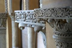 Wet stucco work on pillars (VinayakH) Tags: india gardens royal palace hyderabad royalpalace nizam telangana chowmahallapalace