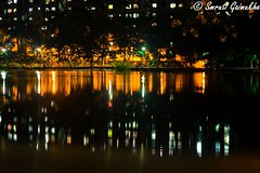 #reflection (smrutigaimukhe) Tags: instagramapp square squareformat iphoneography uploaded:by=instagram thane reflection water waterreflections lakeview nightview nihhphotography nightphotography