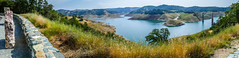 New Melones Lake Panorama (Serendigity) Tags: dam trees usa drought newmelones water panorama california unitedstates watersupply lowlevel reservoir