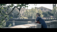 The Sunday morning (Orione Photographer) Tags: street people urban italy laura canon photography bokeh candid streetphotography cinematic ef135mmf20 5dmk3 orione1959 orionephotographer