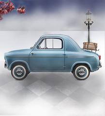 Vespa 400 (RobKuijper) Tags: cars car italian fiat surrealism oldtimer 500 bubblecar vespa400