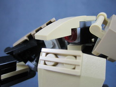 Head detail (Messymaru) Tags: original infantry robot lego grunt mecha mech moc