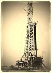 Drilling Rig (Vulcan Rider) Tags: gas rig oil crown derrick drill oilfield drilling unconventional uploaded:by=flickrmobile flickriosapp:filter=wallaby wallabyfilter