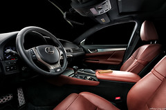 Lexus GS interior (thelucid1) Tags: red car leather nikon interior automotive steeringwheel lexus d800 studiolighting automotivephotography strobism