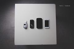 Evolution (Jesse Therrien) Tags: studio table samsung evolution pride motorola phones nexus iphone strobist