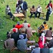 A Community baraza (meeting) in progress at Chemoge Location, Mt Elgon