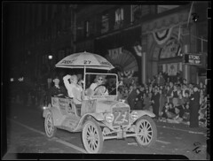 WWII (Boston Public Library) Tags: worldwarii clowns automobiles militaryofficers lesliejones paradesprocessions