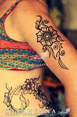 bellydancer-hip-arm-henna-vines-w (SARAHENNA - Seattle) Tags: henne mehendi heena mehandi