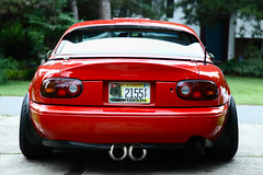1990 Miata St. Mays Center Exit Exhaust (Ryan.C.Davis) Tags: roof st canon vent drive zoom charlotte rear may mirrors northcarolina s center na r subaru lip exit mazda miata 1990 fuel exhaust jdm lid s800 yokohoma marsred 24105mm specc cs5 projectg canon5dmarkii 1955015 d2coilovers