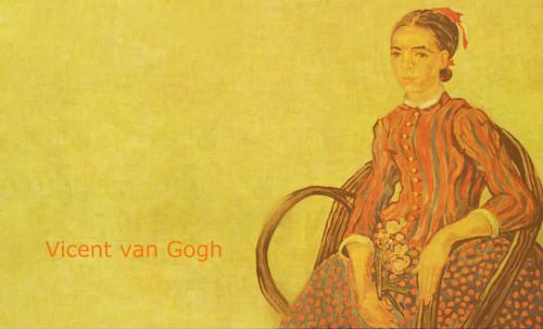 """La Mousmé, estilización de Vincent van Gogh (1888), transpolación de Pablo Picasso (1937). • <a style=""""font-size:0.8em;"""" href=""""http://www.flickr.com/photos/30735181@N00/8805022071/"""" target=""""_blank"""">View on Flickr</a>"""