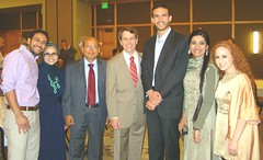 A group of local leaders at the event (TwoCircles.net) Tags: jones salam steinberg dickinson deanobeidallah profjohnesposito sacramentoarealeagueofassociatedmuslims