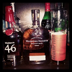 My cabinet is prepared today for national bourbon day.