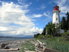 Cape Mudge Lighthouse (D-Stanley) Tags: canada day cloudy britishcolumbia quadraisland