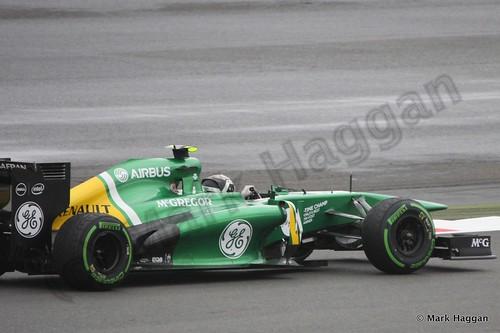 Giedo van der Garde in Free Practice 2 at the 2013 British Grand Prix