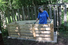 Lynda and the New Compost Bins (rgdaniel) Tags: compost lynda compostbin