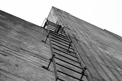 Going Up (renegi23) Tags: california urban blackandwhite prime berkeley industrial bayarea ladder