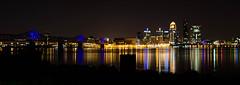 Falls of the Ohio-PanoWEB8945 (Mike WMB) Tags: city urban night river lights louisville