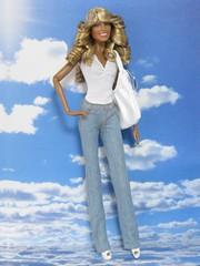 "Farrah Barbie ""Jill's Angelic Heaven"" (Ladywawa3) Tags: jill barbie angels basics farrah fawcett charlies"