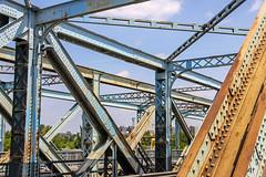 Gubacsi bridge - old irons (Romeodesign) Tags: old bridge blue rust iron hungary steel budapest structure rost steampunk stahl csepel gubacsi
