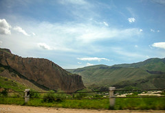 On the way to Noravank, Armenia (Tiigra) Tags: 2006 armenia noravank landscape nature road sky