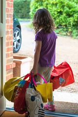 13th September - Off to Grandma's (Bond Girly) Tags: door leaving amy bags heavy lots packed grandmas