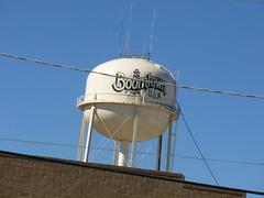 Burkburnett, TX - interesting building and water tower (EastTxRose) Tags: tx burkburnett