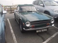 Triumph TR6 (occama) Tags: uk green classic 1969 car vintage cornwall retro triumph british 1968 tr6 sprots wvo505g