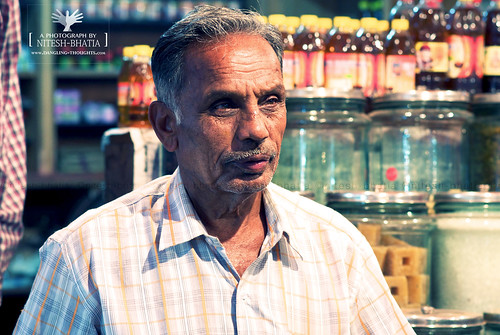 A shop keeper near Temple