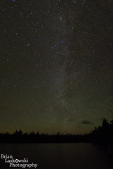 Little Platte Lake Milkyway and Aurora (Brian Laskowski) Tags: sky panorama lake nature water night dark stars michigan latenight sleepingbeardunes astral milkyway leelanau plattelake blinkagain bestofblinkwinners blinksuperstars