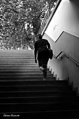 Going up (Eleanna Kounoupa) Tags: street blackandwhite woman stairs greece γυναίκα ελλάδα kifissia blackwhitephotos δρόμου κηφισιά σκάλεσ σιλουέτεσ stphotographia μαυρόασπρεσ