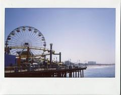 (teacup_dreams) Tags: california santa wheel pier los angeles ferris monica instax