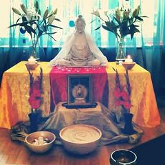Worcester Buddhist Centre, UK, shrine for the Urban Retreat #urbanretreat