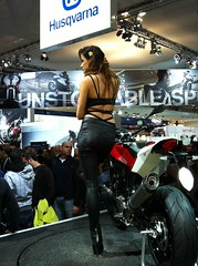 IMG_0869 (Brutale67589) Tags: girls woman milan sexy beauty bike promo candid babes eicma