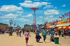 Walking down the boardwalk (bwilliamp) Tags: nyc newyorkcity usa ny newyork brooklyn coneyisland boardwalk bigapple
