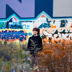 Colorchrome (Mike Shaheen) Tags: autumn portrait selfportrait abandoned field self square 50mm prime graffiti nikon depthoffield abandon portraiture concept conceptual nikkor f18 18 depth d90 conceptualportraiture